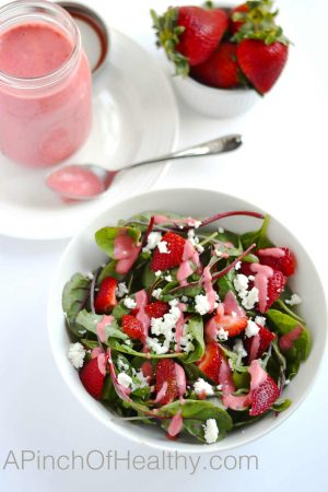 Strawberry Vinaigrette | APinchOfHealthy.com