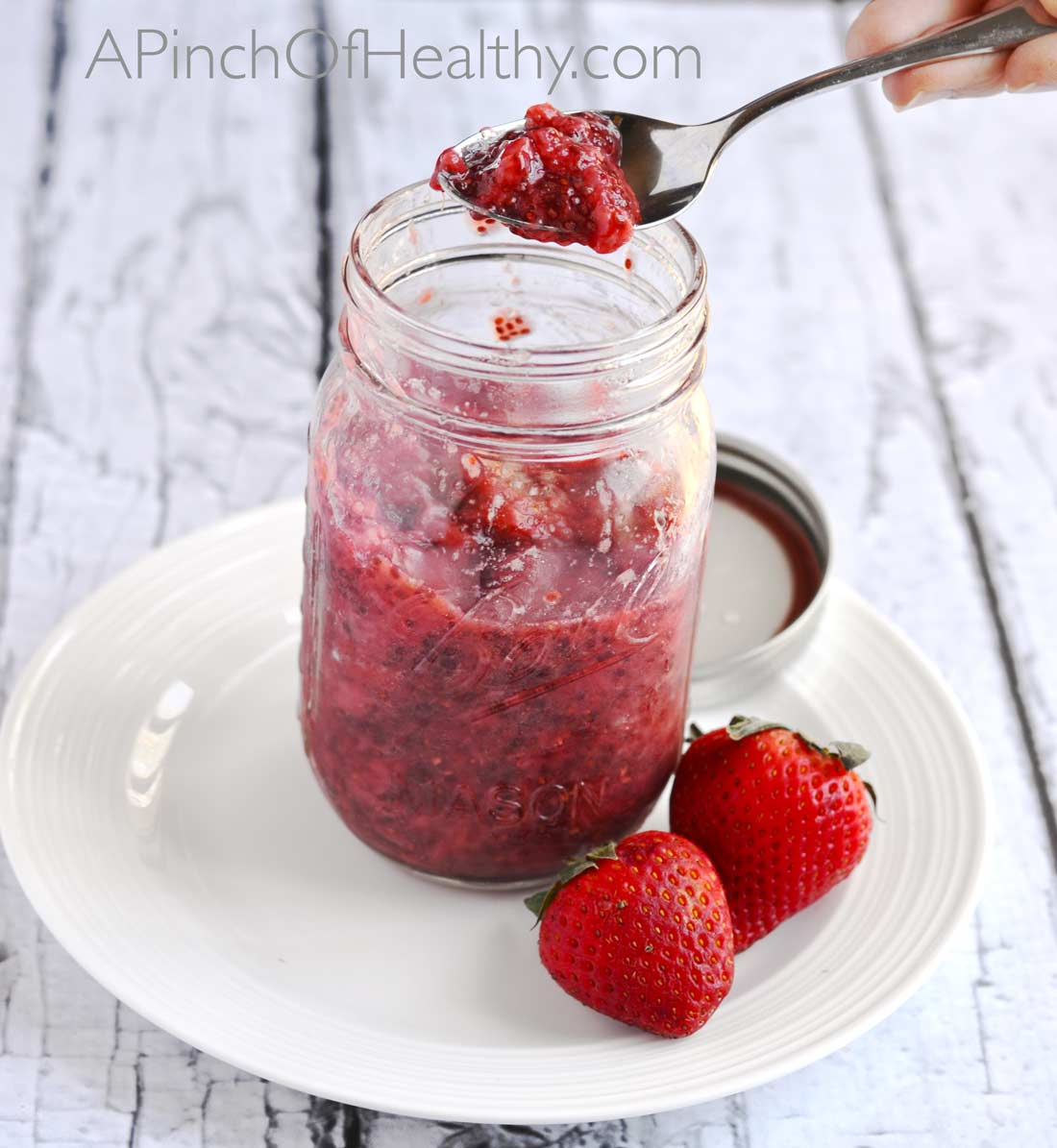How to make chia jam| APinchOfHealthy.com