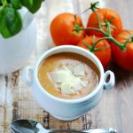 Easy Tomato Basil Soup - 7 ingredients & 20 minutes is all you need. | APinchOfHealthy.com