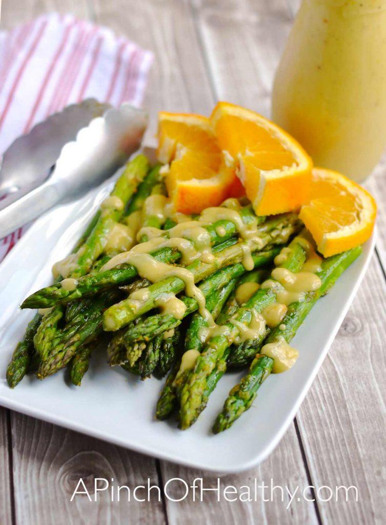 Roasted Asparagus with Orange Glaze - a simple & healthy side dish| APinchOfHealthy.com