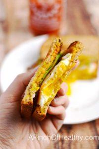 The Ultimate Breakfast Sandwich| APinchOfHealthy.com