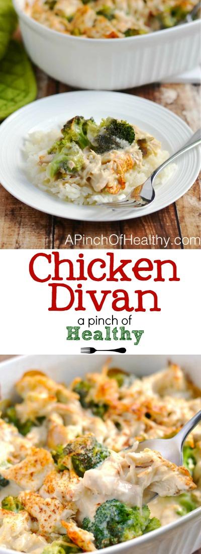 Chicken Divan | APinchOfHealthy.com