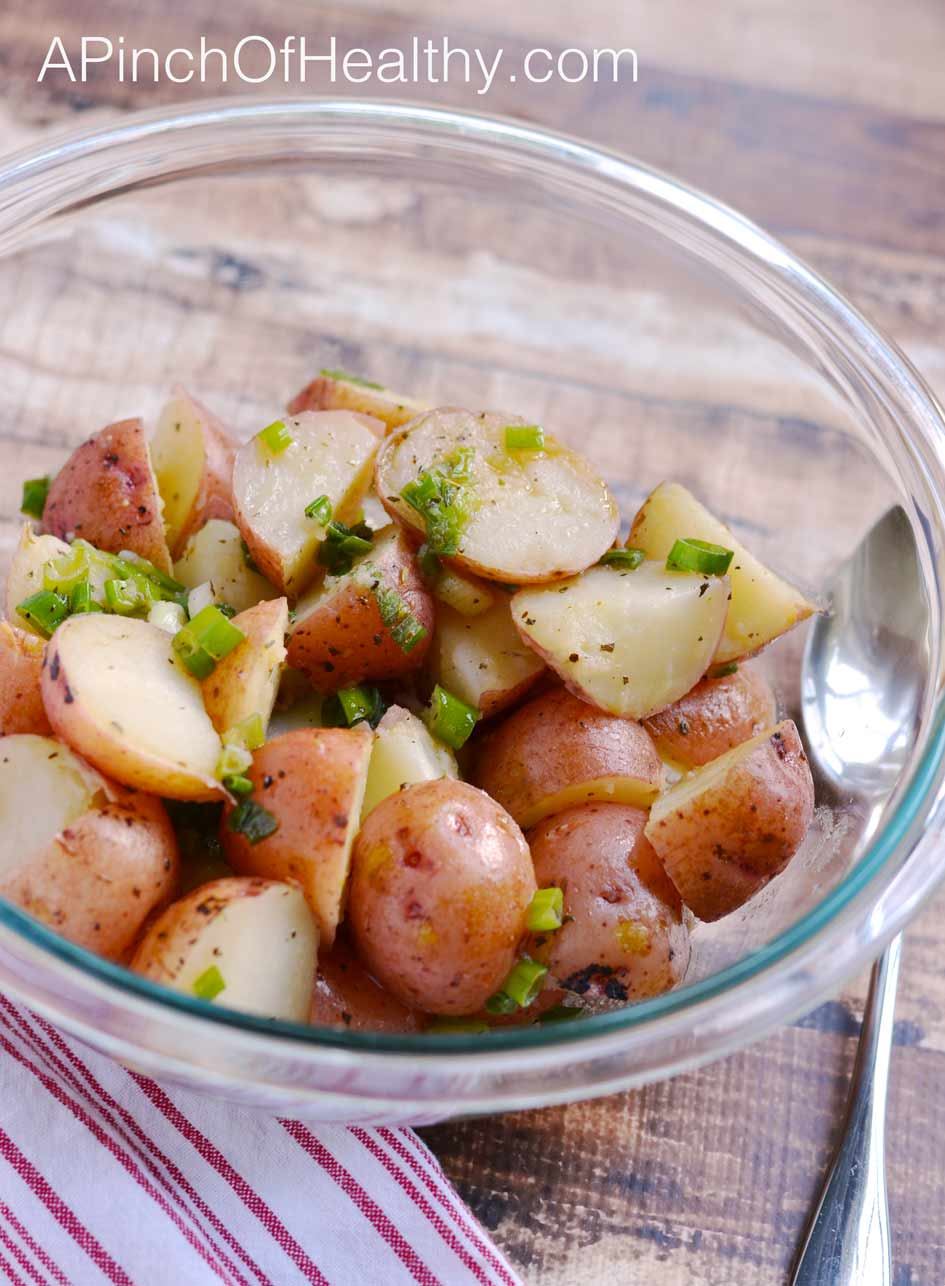 Greek Potato Salad Zoe S Copycat Recipe A Pinch Of Healthy