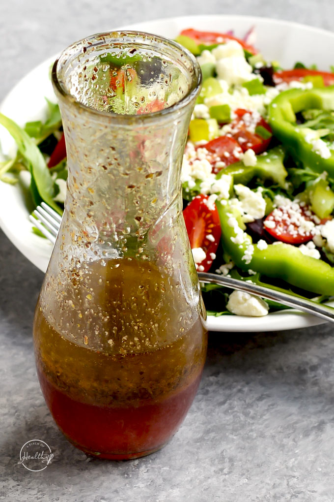 Greek Red Wine Vinaigrette Made From Scratch A Pinch Of Healthy