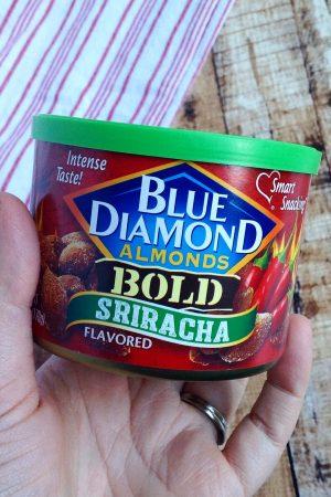 Snacking with Blue Diamond Sriracha Almonds