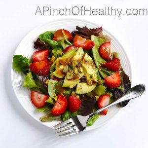 Strawberry Avocado Salad | APinchOfHealthy.com