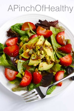 Strawberry Avocado Salad | APinchOfHealthy.com