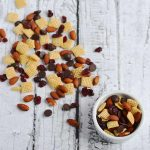 Cranberry Almond Dark Chocolate Trail Mix | APinchOfHealthy.com