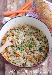 One Pot Chicken & Rice | APinchOfHealthy.com