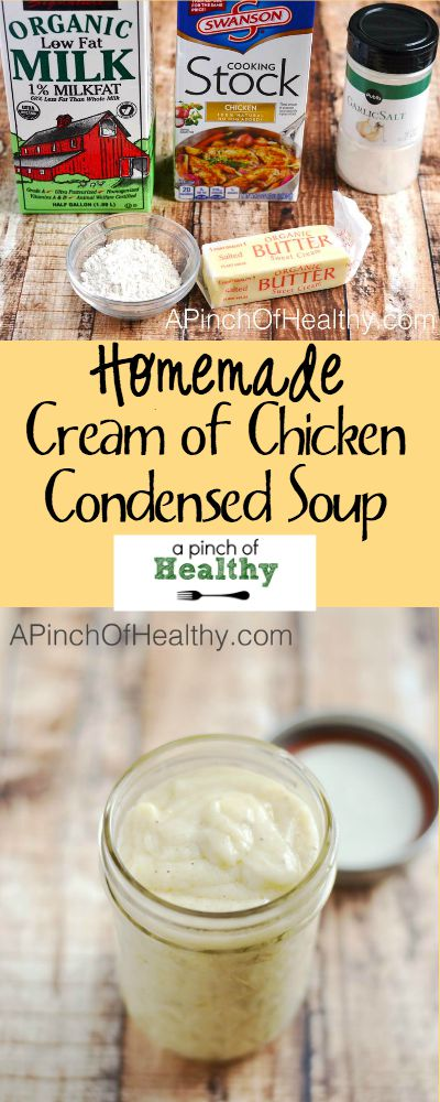 Homemade Cream of Chicken Condensed Soup | APinchOfHealthy.com