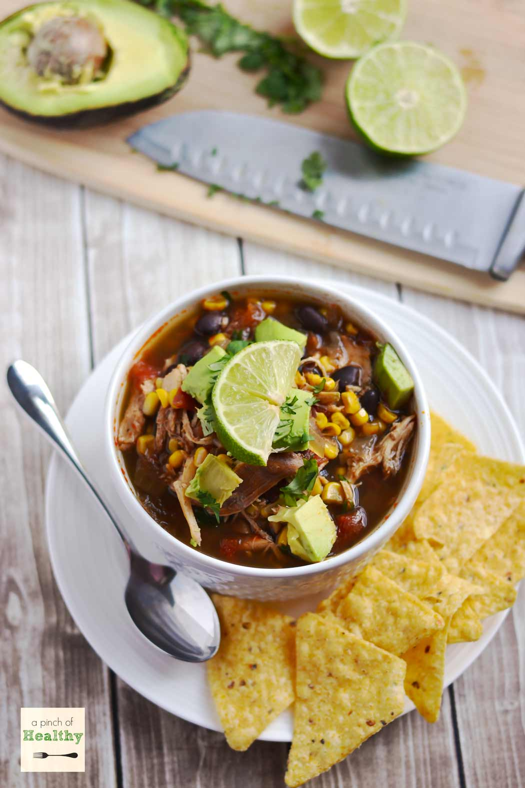 Chicken Tortilla Soup in the Slow Cooker - an easy, delicious meal you ...