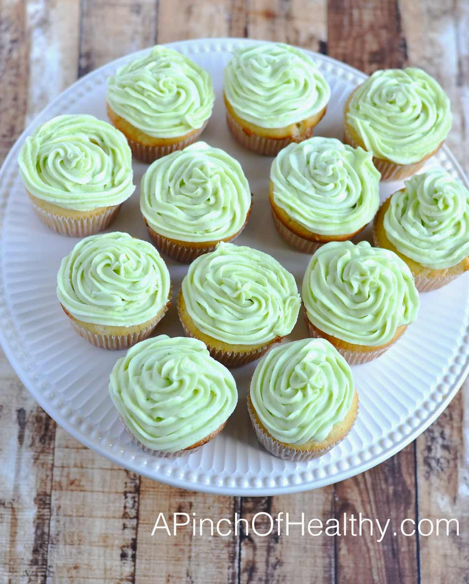 Key Lime Cupcakes {YOLO Recipe} | APinchOfHealthy.com