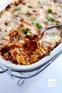 Lazy Girl Lasagna | APinchOfHealthy.com