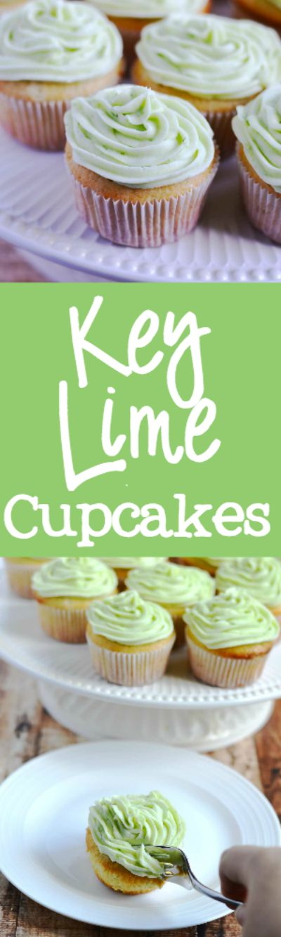Key Lime Cupcakes {YOLO Recipe} - these sweet and tangy key lime cupcakes are perfect for a birthday party or special occasion. My whole family loved these! | APinchOfHealthy.com