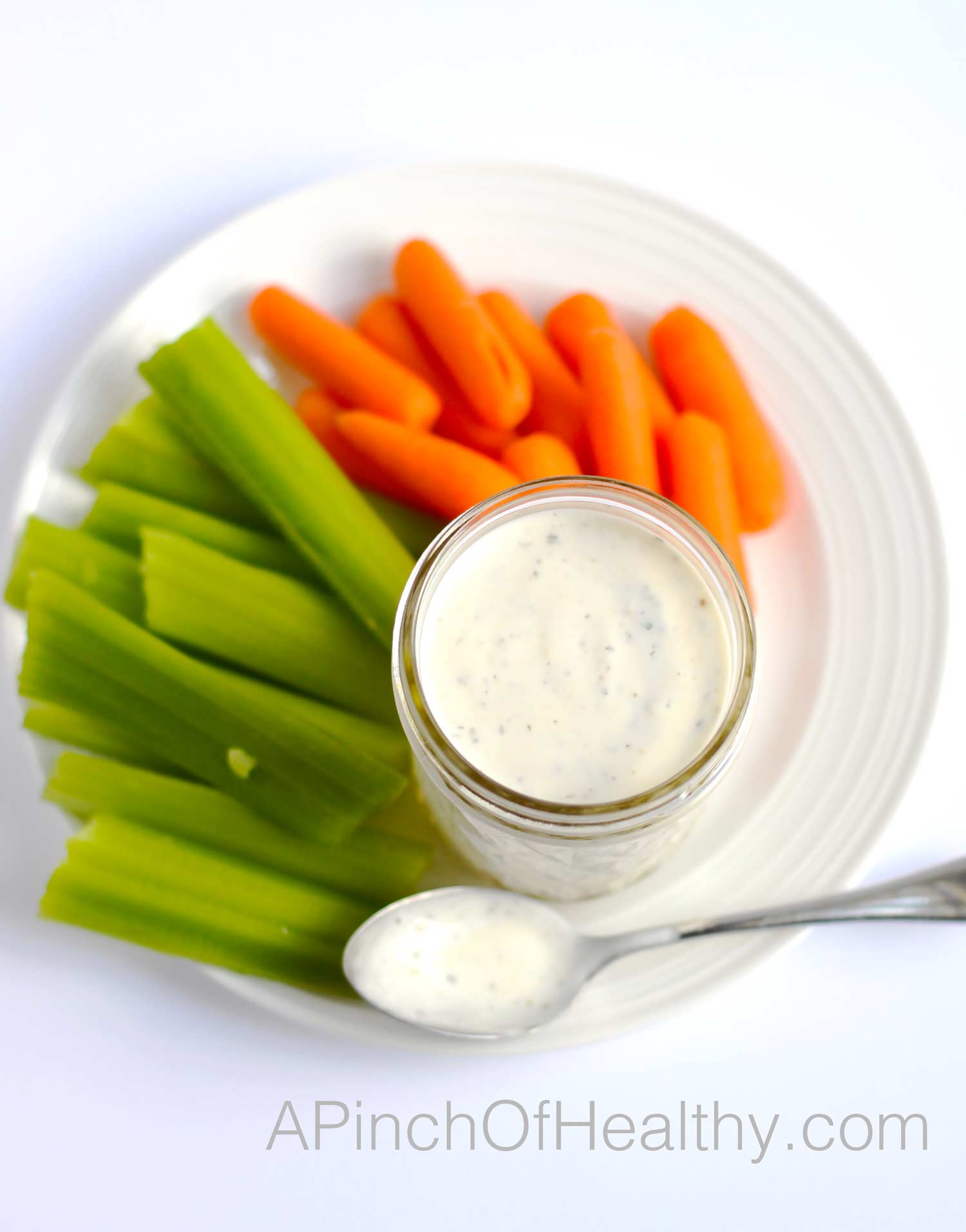 Ranch Dressing From Scratch | APinchOfHealthy.com