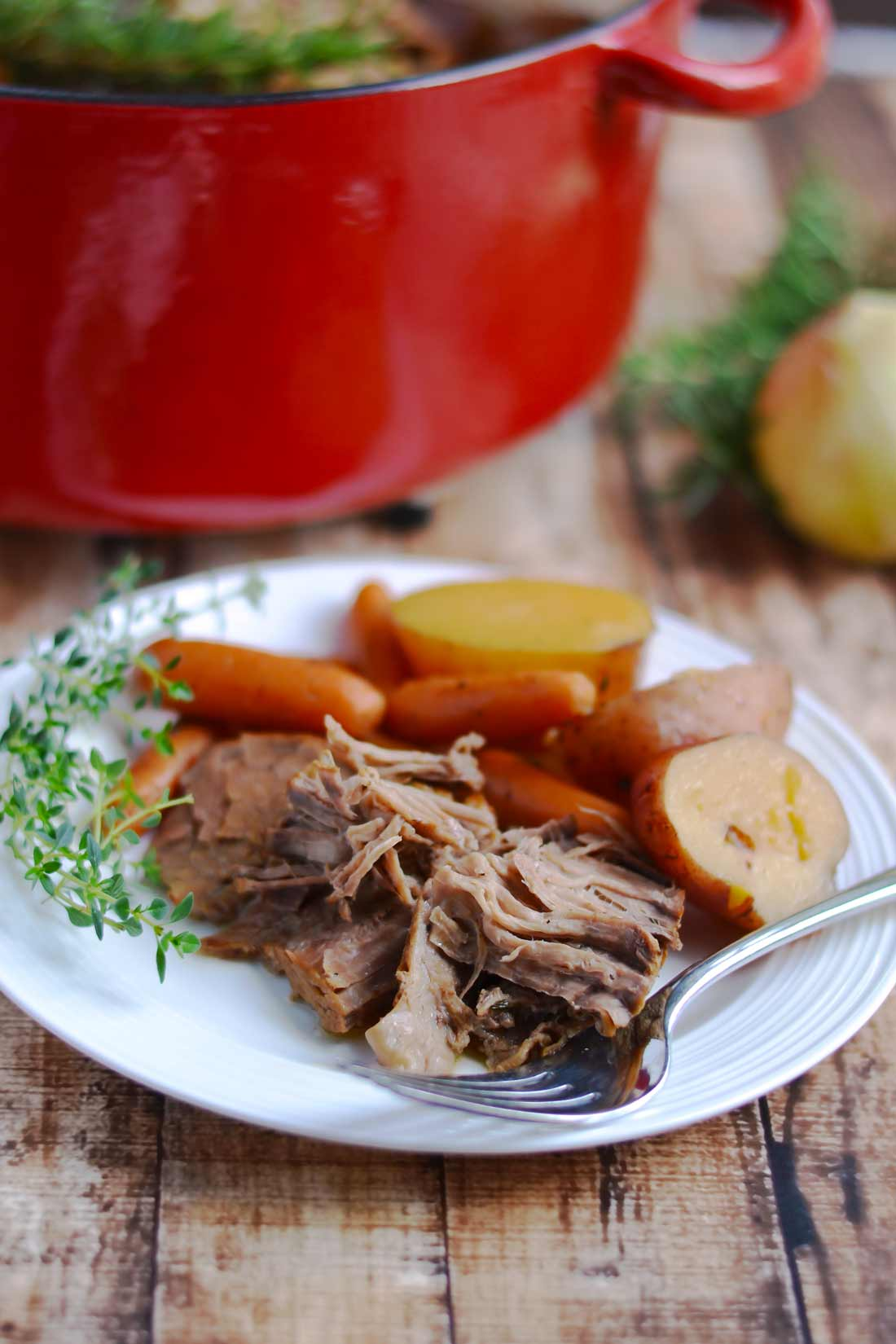 Classic Pot Roast - the best comfort food ever! | APinchOfHealthy.com
