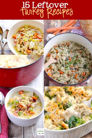 15 Leftover Turkey Recipes - 15 awesomely delicious ways to use up all that leftover turkey! | APinchOfHealthy.com