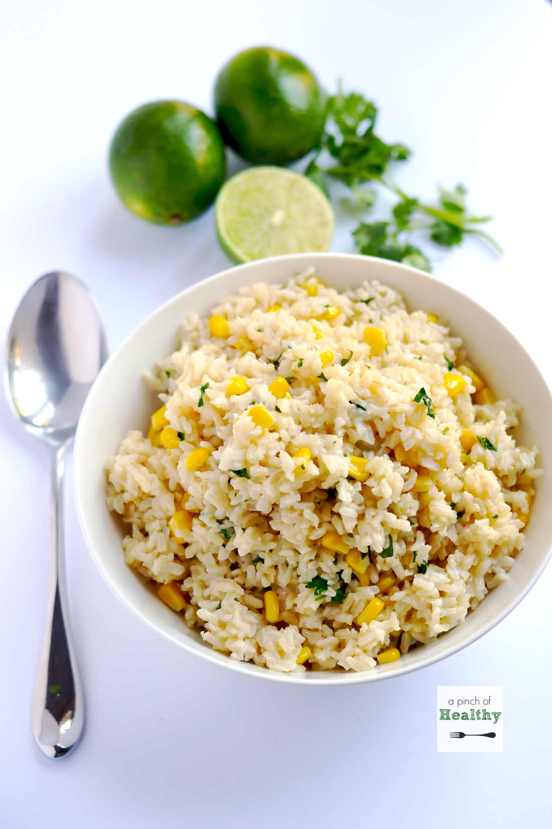 Cilantro Lime Brown Rice - a simple and flavorful side dish you are going to love. | APinchOfHealthy.com