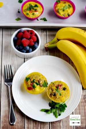 Egg Muffins with Turkey Sausage and Peppers