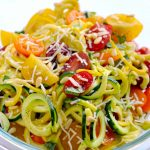 One Pot Garlic Parmesan Zoodles {Spiralizer Recipe} - this recipe will make you want to eat your veggies! | APinchOfHealthy.com