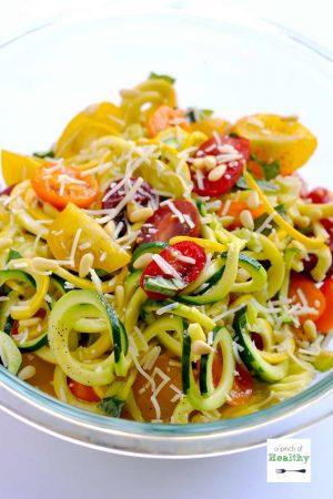 Garlic Parmesan Zoodles (Spiralizer Recipe)