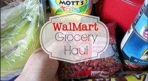 WalmMart Grocery Haul March 2016