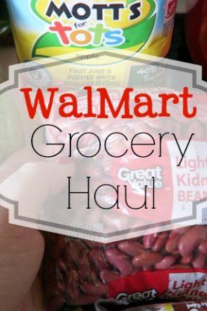 WalmMart Grocery Haul March 2016
