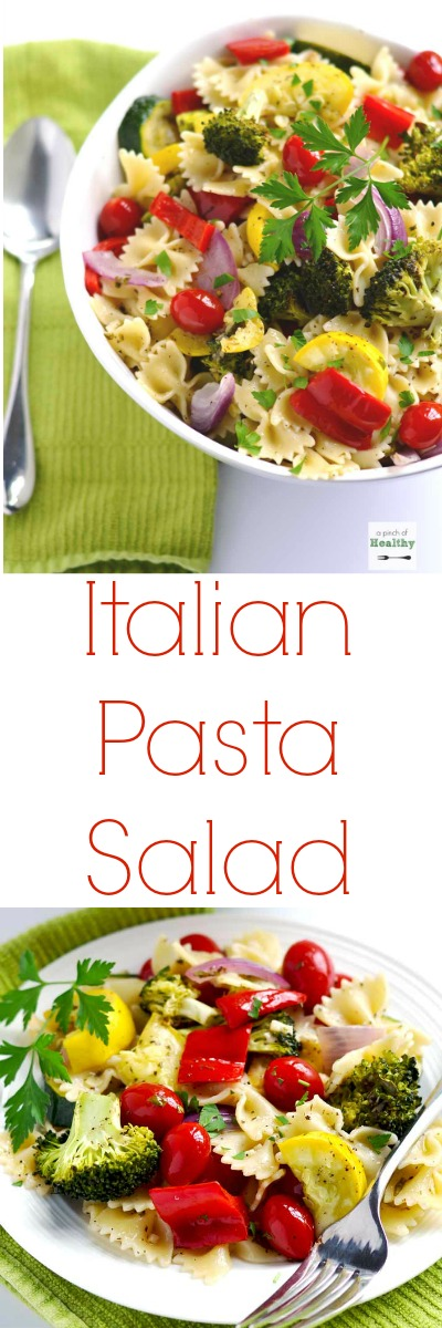 Italian Pasta Salad - everyone LOVES this recipe! A true crowd-pleaser, and perfect for a summer picnic or barbecue! | A Pinch of Heathy