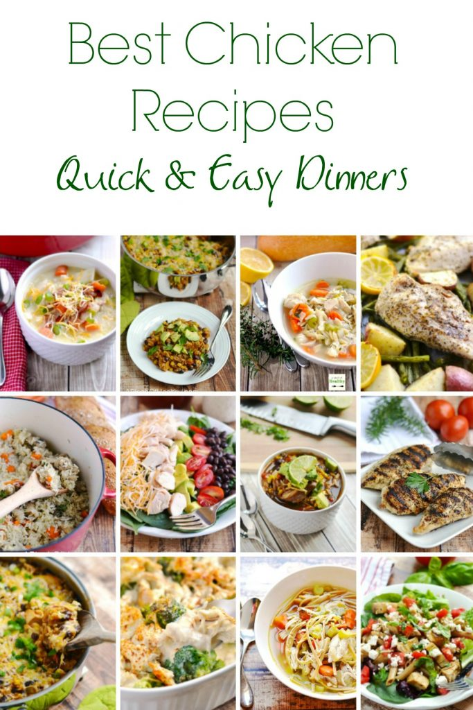 Best Chicken Recipes - quick and easy dinner ideas, perfect for family weeknight dinners! | APinchOfHealthy.com