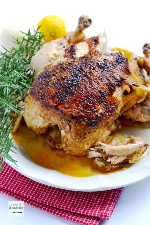 "All you need is about 45 minutes to have this amazing tender, juicy Instant Pot whole ""rotisserie"" chicken. Your whole family will LOVE it! 