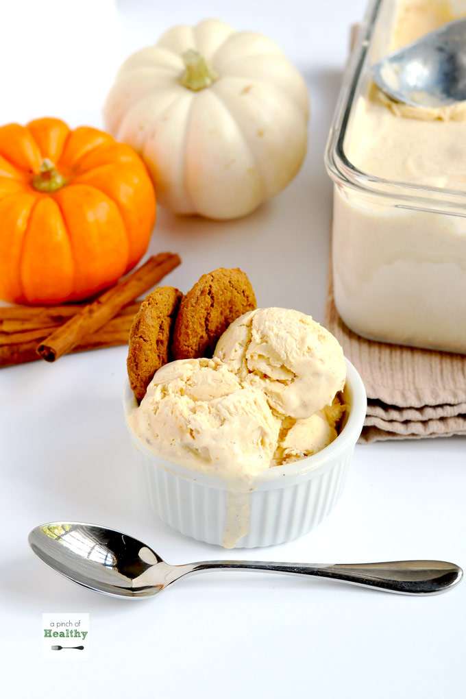 Pumpkin Spice Ice Cream (no churn)