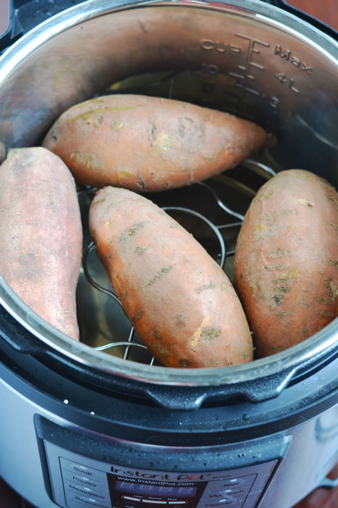 How to make baked sweet potatoes in instant pot