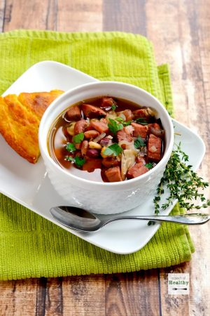 Ham and 15 Bean Soup (Slow Cooker or Instant Pot)