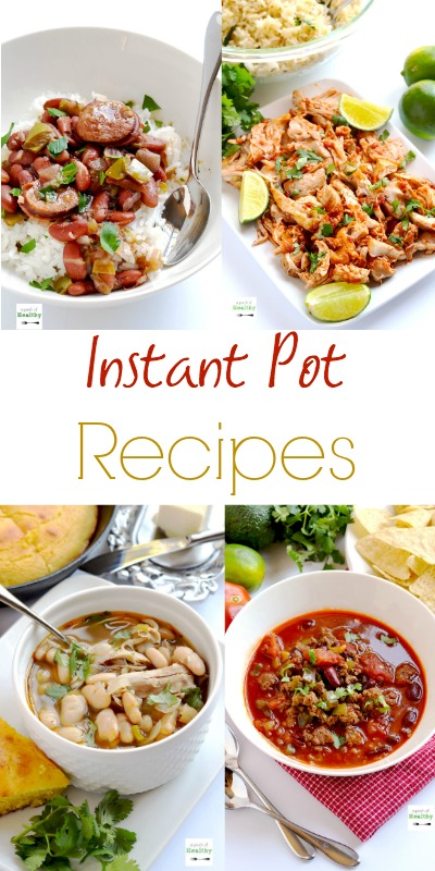 Here are the best simple, tasty Instant Pot recipes. Lots of healthy recipes, plus a few treats too. And lots more to come! | APinchOfHealthy.com