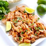 Mexican shredded chicken is so delicious, versatile and EASY. And here are three ways to make it - Instant Pot, slow cooker and stovetop. | APinchOfHealthy.com