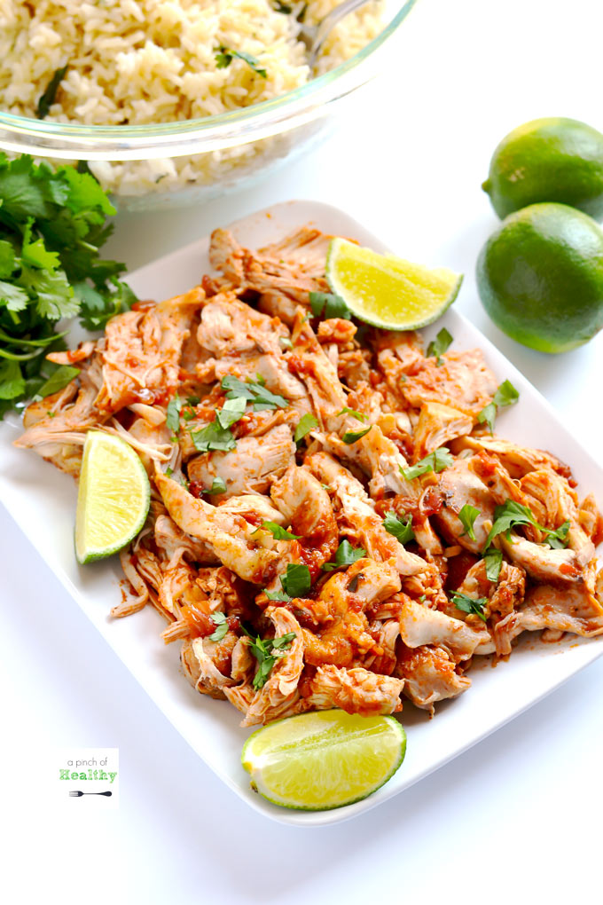 Mexican Shredded Chicken Instant Pot Slow Cooker Or Stovetop A Pinch Of Healthy