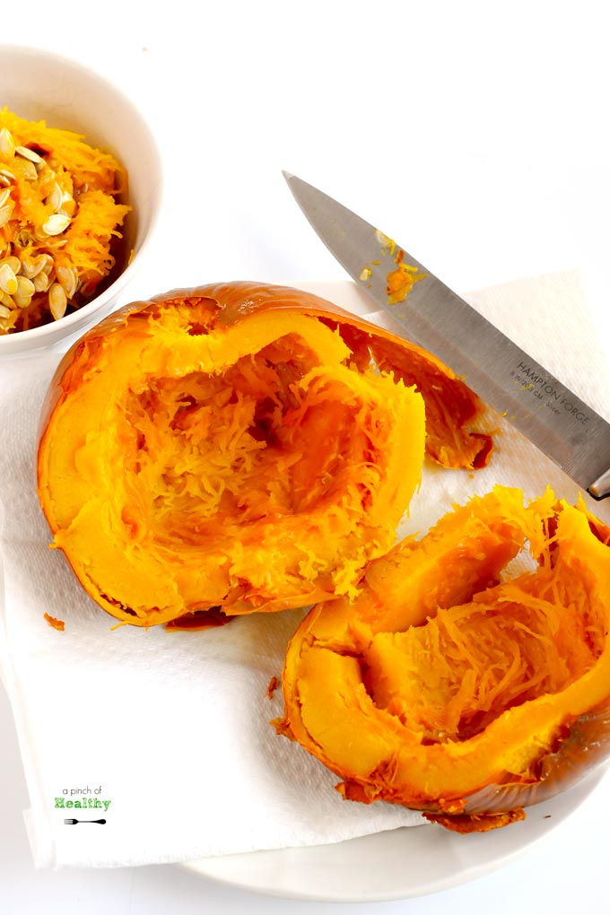 You can make Instant Pot pumpkin puree in a snap! It is super simple and easy since there is no peeling, cutting, de-seeding or even piercing ahead of time.