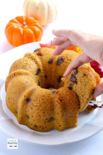 You can make this pumpkin banana chocolate chip bundt cake in your Instant Pot, and it is such a delicious treat.