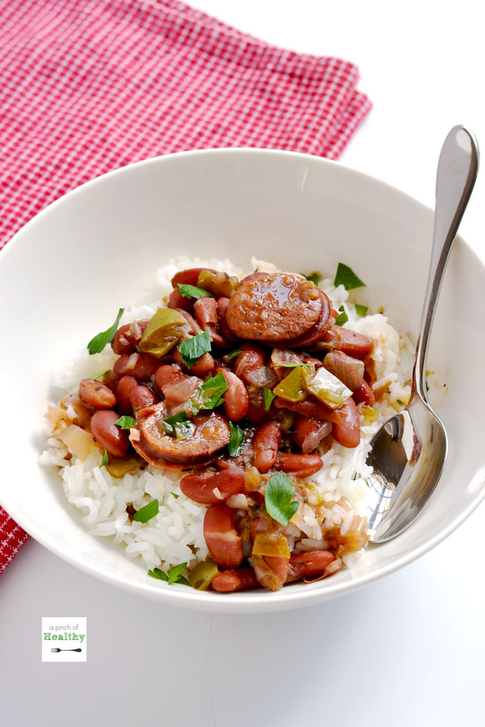 instant pot red beans and rice a pinch of healthy. Black Bedroom Furniture Sets. Home Design Ideas