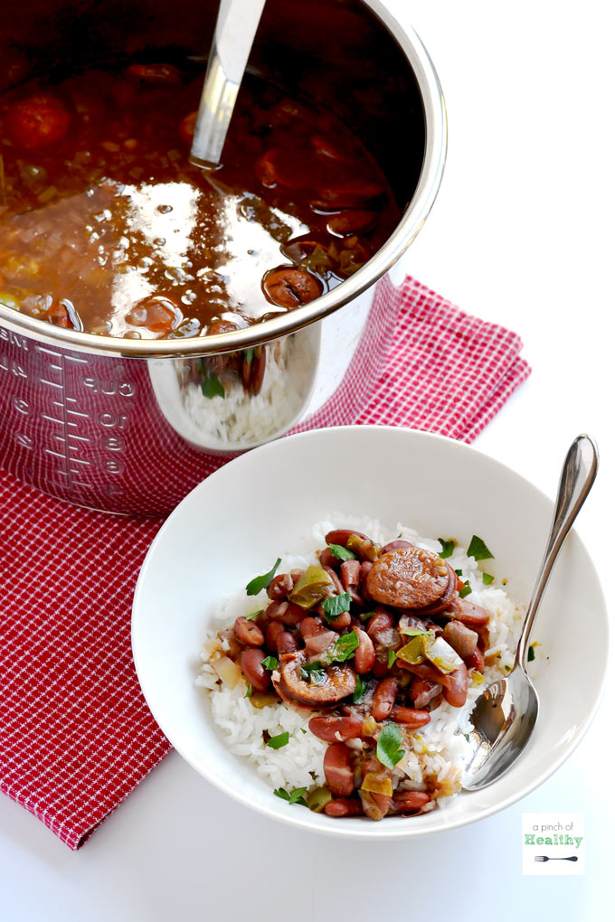 Instant Pot Red Beans And Rice A Pinch Of Healthy