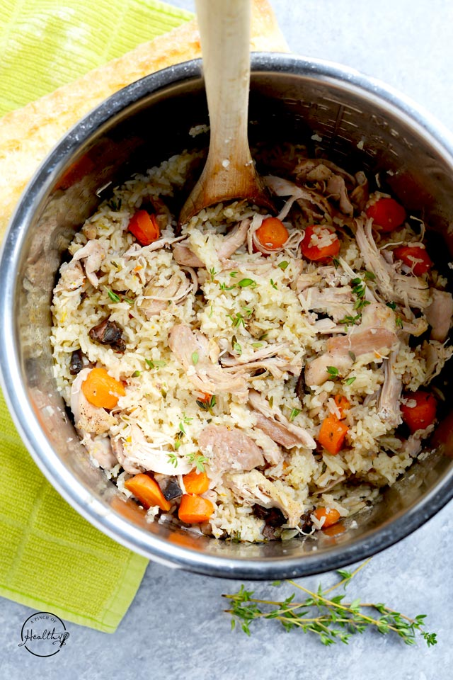 Instant Pot chicken and rice cooked in one pot