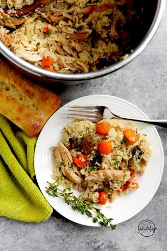 Instant Pot chicken and rice