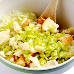 This southern cornbread dressing has been enjoyed in our family every Thanksgiving since I can remember. It is so simple and delicious, and perfect alongside oven roasted turkey breast! | APinchOfHealthy.com
