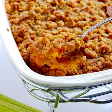 We have enjoyed this sweet potato casserole every Thanksgiving and Christmas in my family for many, many years. | APinchOfHealthy.com
