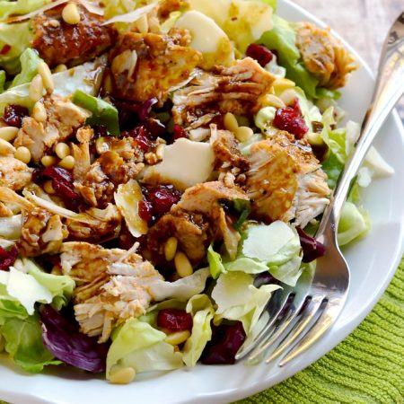 This leftover turkey cranberry salad is a great way to enjoy your Thanksgiving turkey leftovers.