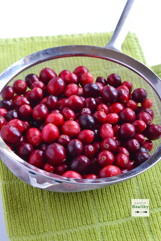 This easy homemade cranberry sauce will be the perfect finishing touch to your Thanksgiving meal. So simple and delicious! | APinchOfHealthy.com