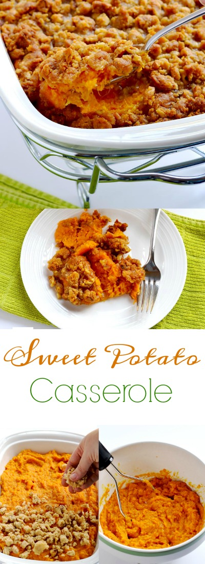 We have enjoyed this sweet potato casserole every Thanksgiving and Christmas in my family for many, many years. | APinchOfHealthy.com!
