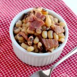 Instant pot black-eyed peas and ham is the perfect dish to make for New Years Day, and pressure cooking makes it so easy! | APinchOfHealthy.com