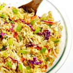 Everybody loves this tangy, crunchy, easy, 10-minute Asian ramen slaw. So delicious and ridiculously simple!   APinchOfHealthy.com