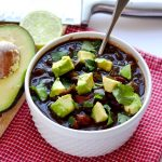 This Instant Pot black bean soup is a delicious plant-based meal that even the meat-eaters will love! | APinchOfHealthy.com